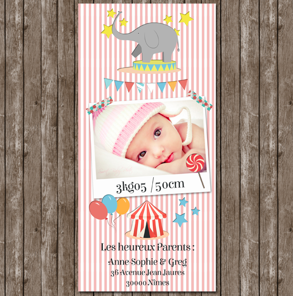 Faire-part-naissance-fille-retro-photo-vintage-cirque