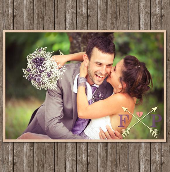 Création Remerciements mariage Vintage Style Carte Postale