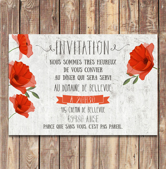 coupon-diner-mariage-coquelicots-provence-bois-champetre-rustique