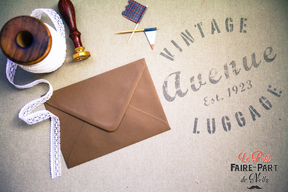enveloppes marron chocolat pour invitation mariage. Black Bedroom Furniture Sets. Home Design Ideas